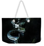 Handcuffs On Black Weekender Tote Bag by Jill Battaglia