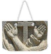 Hands And The Cross Weekender Tote Bag