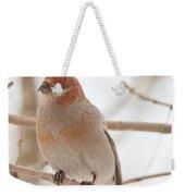Handsome Pine Grosbeak Weekender Tote Bag