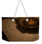 Handwritten Letter By Candle Light Weekender Tote Bag