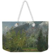 Hang Gliders At Chamonix, 2007 Oil On Canvas Weekender Tote Bag