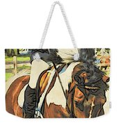 Hang On Tight To Your Painted Horse Weekender Tote Bag