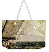 Hanged On Wind In A Mediterranean Vintage Tall Ship Race  Weekender Tote Bag