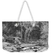 Hanging Bridge In Black And White Weekender Tote Bag