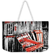 Hanging By A Few Nails Bw Weekender Tote Bag