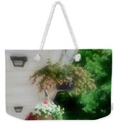Hanging Flower Baskets On A Porch  Weekender Tote Bag