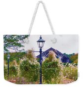 Hanging Flowers With An Old Fashioned Lantern Weekender Tote Bag