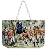 Hanging Of Nathan Hale Weekender Tote Bag