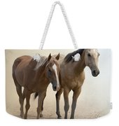 Hanging Out Together Weekender Tote Bag by Betty LaRue