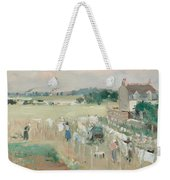 Hanging The Laundry Out To Dry Weekender Tote Bag by Berthe Morisot