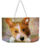 Hankie A Corgi And Westi Mix Cute Dog Weekender Tote Bag