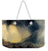 Hannibal And His Army Crossing The Alps Weekender Tote Bag