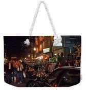 Hanover Street Nights - Boston Weekender Tote Bag