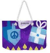 Hanukkah Peace Weekender Tote Bag