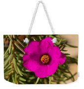 Happily Vibrantly Pink With A Golden Yellow Center Weekender Tote Bag