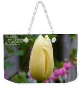 Happiness Tulip Weekender Tote Bag