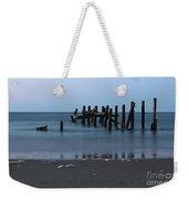 Happisburgh Beach Groynes Weekender Tote Bag