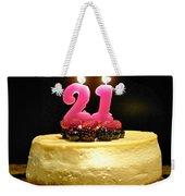 Happy 21st Birthday Weekender Tote Bag