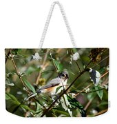 Happy As A Titmouse Weekender Tote Bag