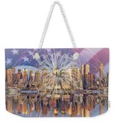 Happy Birthday America Weekender Tote Bag by Susan Candelario