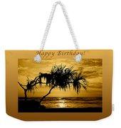 Happy Birthday Golden Sunrise Weekender Tote Bag