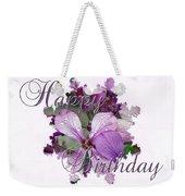 Happy Birthday Greeting Card - Purple Luneria Weekender Tote Bag