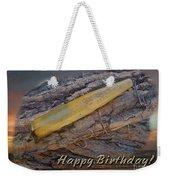 Happy Birthday Greeting Card - Vintage Atom Saltwater Fishing Lure Weekender Tote Bag