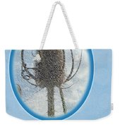 Happy Birthday Greetings - Dried Teasel Thistle Flower Head Weekender Tote Bag