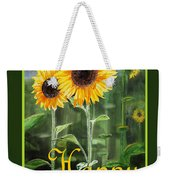 Happy Birthday Happy Sunflowers Couple Weekender Tote Bag