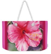 Happy Birthday Hibiscus  Weekender Tote Bag