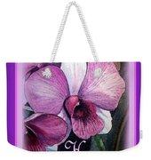 Happy Birthday Orchid Design Weekender Tote Bag