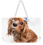 Happy Birthday Puppy Weekender Tote Bag by Edward Fielding