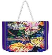 Happy Birthday Water Lilies  Weekender Tote Bag