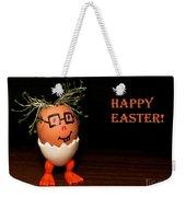 Happy Easter Greeting Card. Funny Eggmen Series Weekender Tote Bag