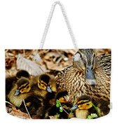 Happy Family Weekender Tote Bag by Frozen in Time Fine Art Photography