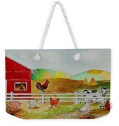Happy Farm Weekender Tote Bag