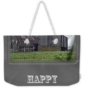 Happy Father's Day Greeting Card - Old Barn Weekender Tote Bag