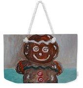 Happy Gingerbread Man Weekender Tote Bag