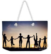 Happy Group Of People Friends Family Together Weekender Tote Bag