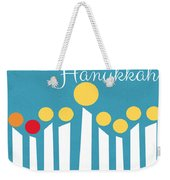 Happy Hanukkah Menorah Card Weekender Tote Bag