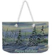 Happy Holidays - Snowy Winter Evening Weekender Tote Bag