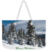 Happy Holidays - Winter Trees And Rising Clouds Weekender Tote Bag