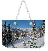 Happy Holidays - Winter Wonderland Weekender Tote Bag