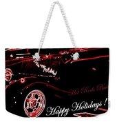 Happy Holidays Hot Rods Rule Weekender Tote Bag