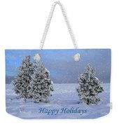 Happy Holidays Weekender Tote Bag