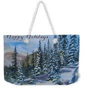 Happy Holidays Forest And Mountains Weekender Tote Bag