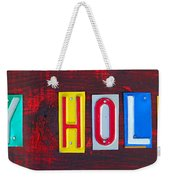 Happy Holidays License Plate Art Letter Sign Weekender Tote Bag