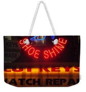 Happy Holidays - Neon Of New York - Shoe Repair - Holiday And Christmas Card Weekender Tote Bag