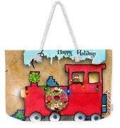 Happy Holidays Train Weekender Tote Bag