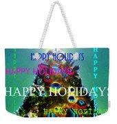 Happy Holidays Word Splash A Weekender Tote Bag